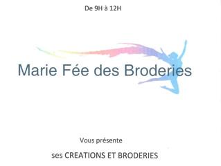 Marie Fée des Broderies samedi matin