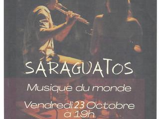 Saraguatos en concert vendredi 23 octobre à 19h