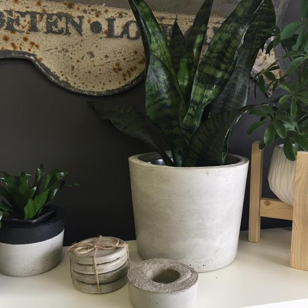 "3"" pot, coasters, chunky tealight holder, and 8"" pot"