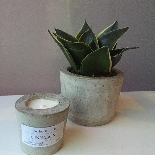 """2oz candle and 4"""" pot"""