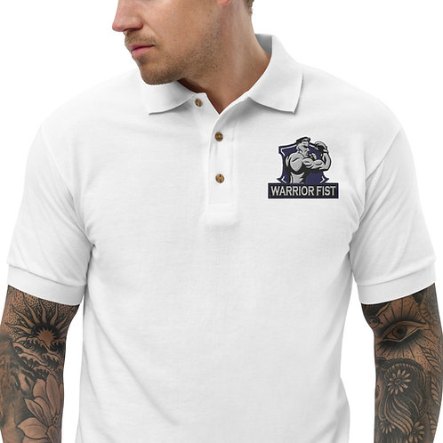 Warrior Fist Embroidered Polo Shirt