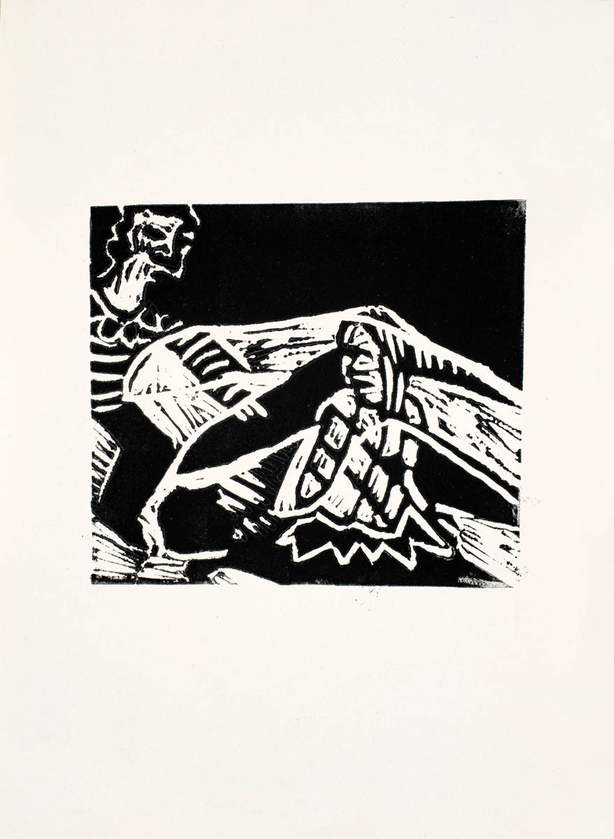 Sher and Her, lino cut