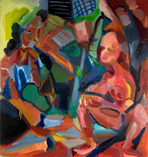 Encounter, oil on canvas, 140x130 cm