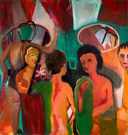 Ladies at their Toilet, oil on canvas, 1