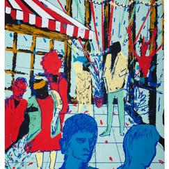 Purim, silkscreen print, print-run 10, 56x38 cm, 2017