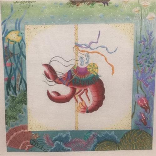 Shrimp with Underwater Border