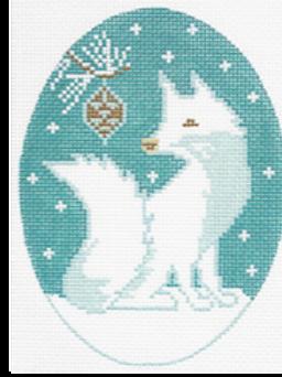 Arctic Fox Ornament