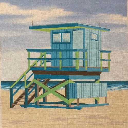 Blue Life Guard Stand