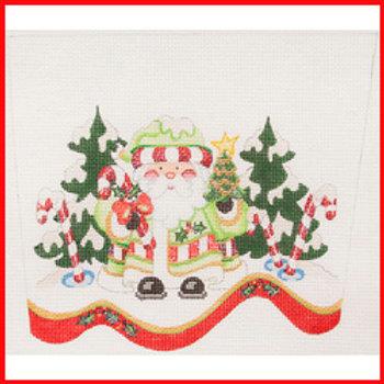 Green Santa Stocking Cuff