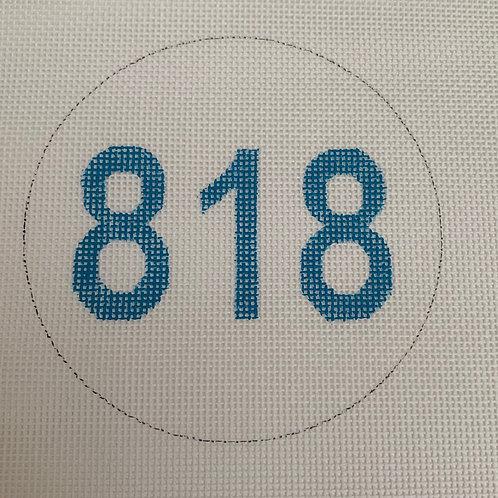 Area Code Ornament - 818
