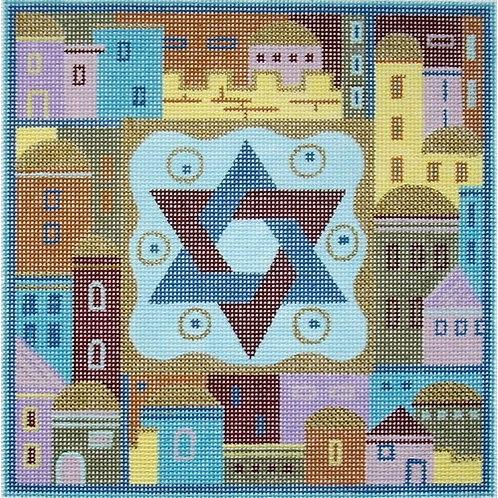 Jerusalem and Star of David Teffilin Bag