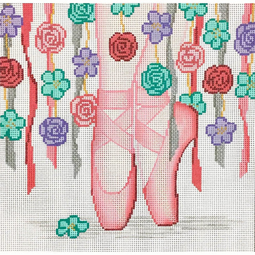 Ballet Slippers with Flowers