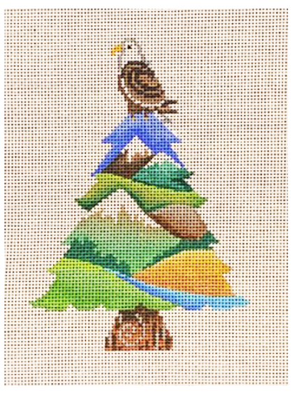 Eagle on Tree Ornament