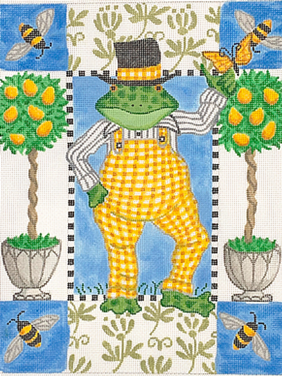 Frog in Yellow Overalls