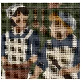Downton Abbey Coaster - Mrs Patmore & Daisy