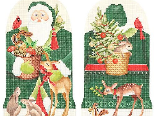 2-Sided Forest Friends Father Christmas