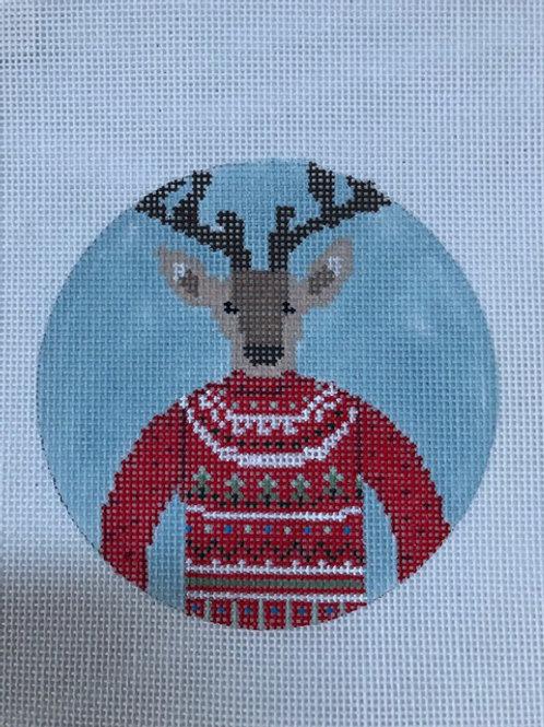 Reindeer Sweater Ornament