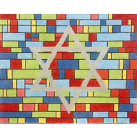 Stained Glass Star of David Tallis Bag