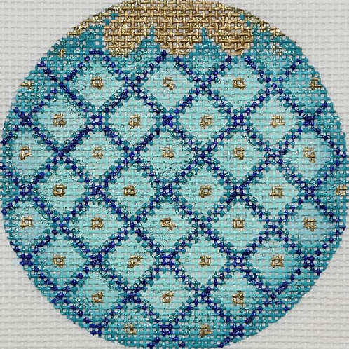 Blue Diamonds Ornament