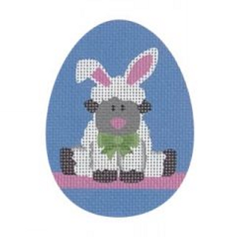 Bunny Lamb Flat Egg
