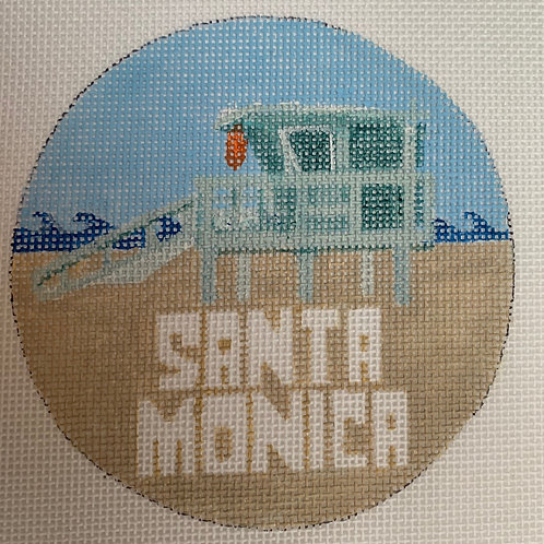 Santa Monica Ornament 3