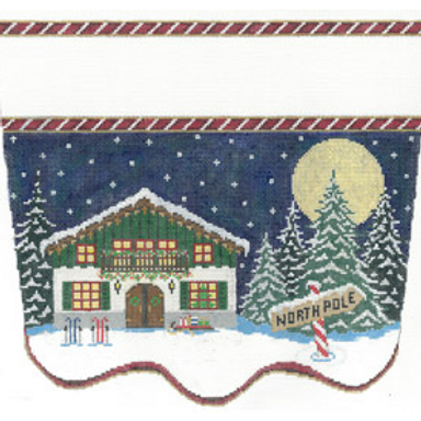 North Pole Chalet Stocking Cuff