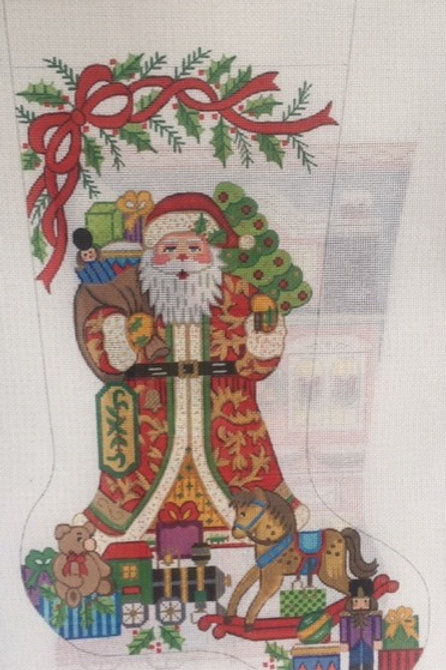 Santa with Presents Stocking
