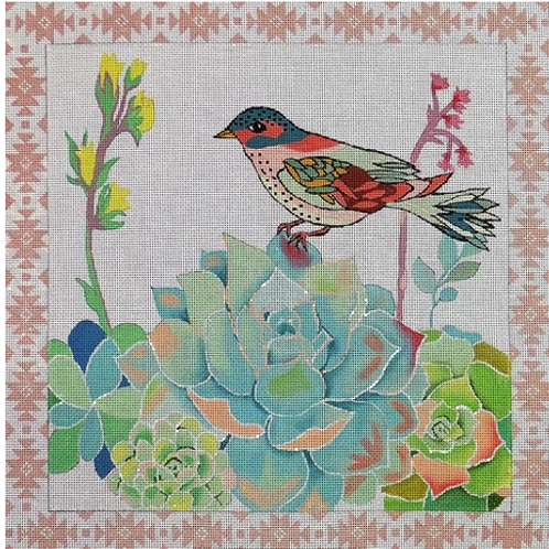 Succulent with Bird