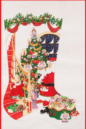 Girl's Santa Christmas Stocking