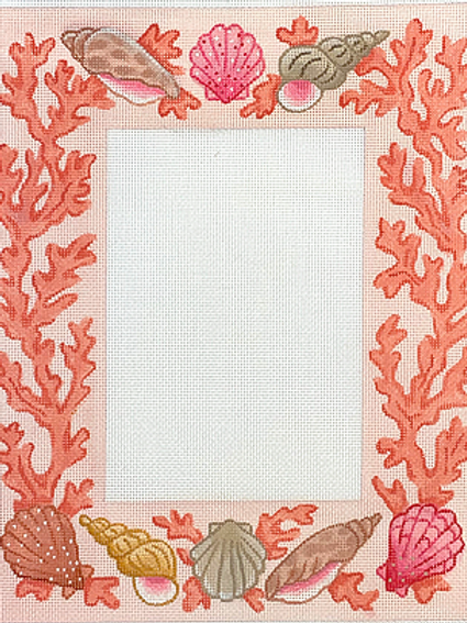 Coral and Seashells Picture Frame