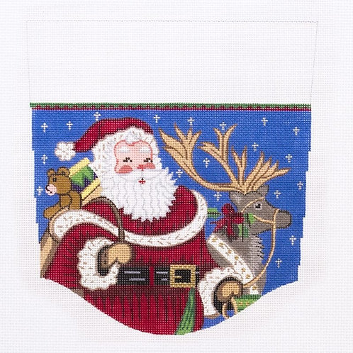 Santa and Reindeer Stocking Cuff