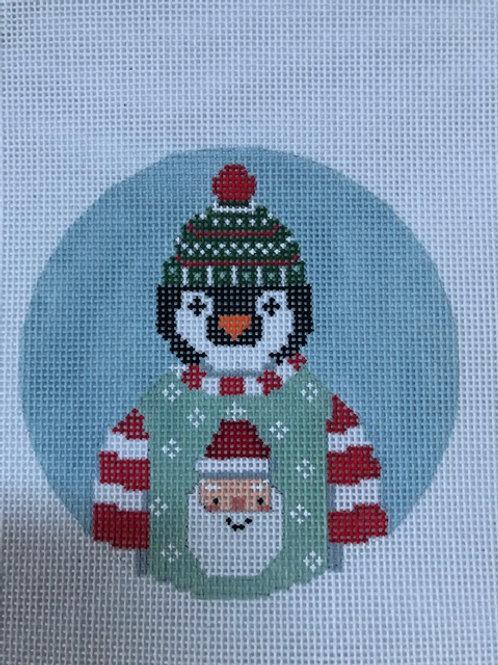 Penguin in Sweater Ornament