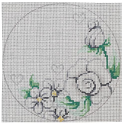 White Floral Ornament