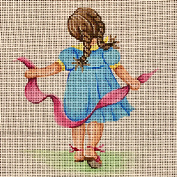 Little Girl with Ribbon