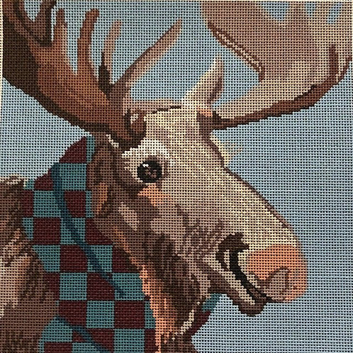 Moose with Scarf