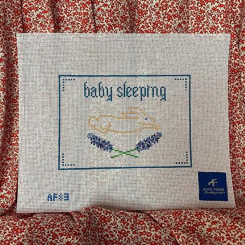 Baby Sleeping - Blue