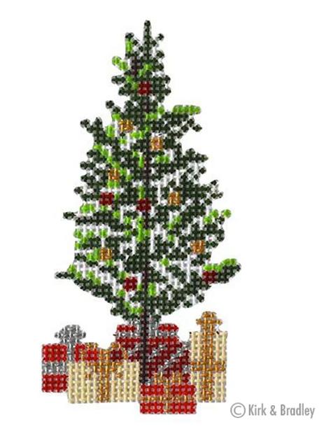 Retro Ski - Christmas Pine Tree