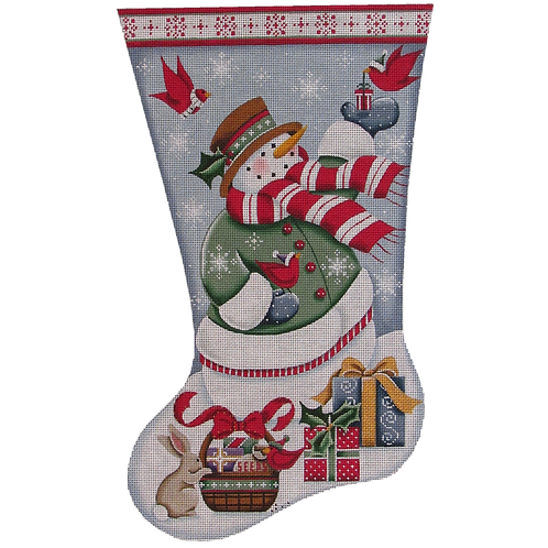 Snowman and Presents Stocking