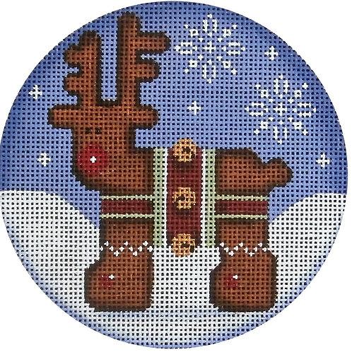Gingerbread Deer Ornament
