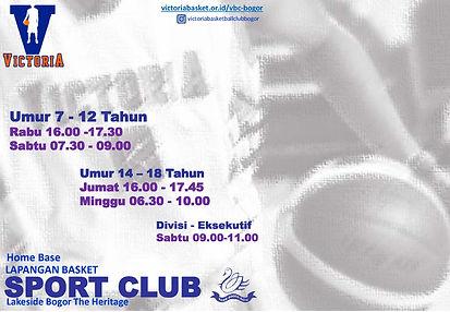 Victoria BC Bogor Jadwal Latihan Per 02
