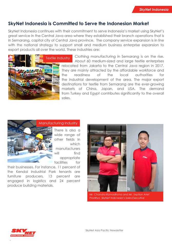 SkyNet Asia Pacific Newsletter