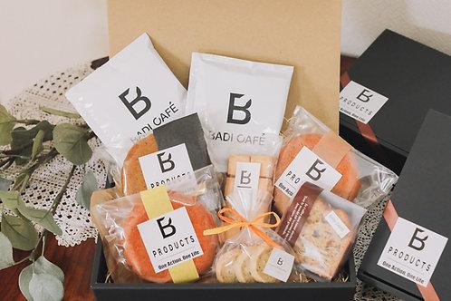 Badi Cafe 焼き菓子詰め合わせセット(黒箱平・小)