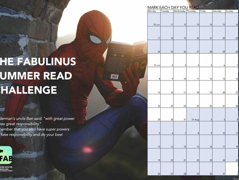 Join the Fabulinus summer reading challenge!