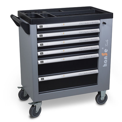 Werkzeugwagen 245-teilig grau/schwarz gefüllt mit Werkzeug