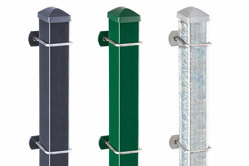 Pfosten U Zaunpfosten mit U-Bügel aus Edelstahl, Gegenplatte und Muttern