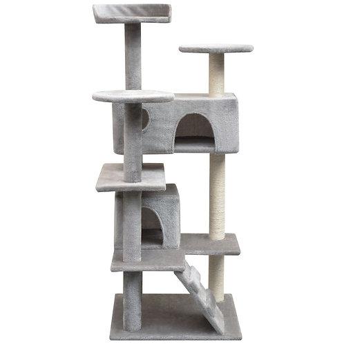 Katzen Kratzbaum grau 67x67x125cm
