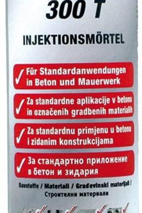 FISCHER FIS AB 300 T Injektionsmörtel 300ml mit Zulassung für Beton und Mauer