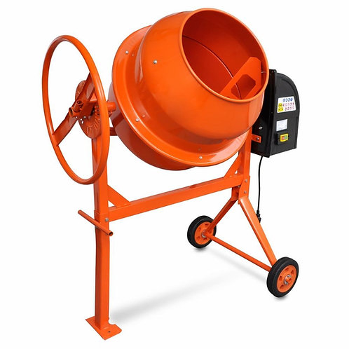 Betonmischer/Zementmischmaschine 140 L 650 W Stahl Orange