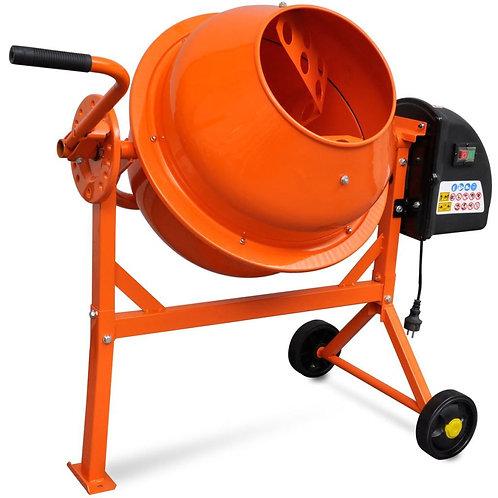 Elektrischer Betonmischer 63 L 220 W Stahl Orange