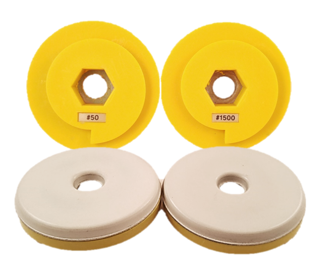 "5"" Snail Lock Polishing Pad - Round Type"